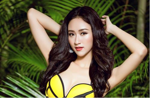 Người đẹp Hà Thu khoe hình thể với bikini